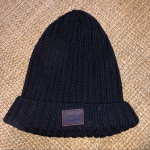 Levi brand black knit winter hat men's
